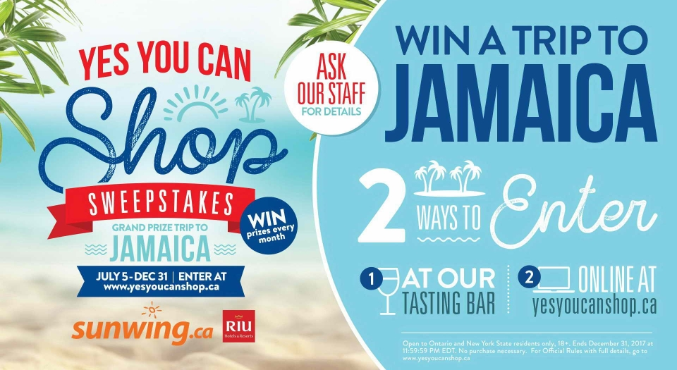Win a Trip to Jamaica!